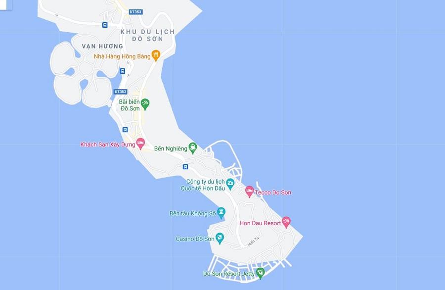Bản đồ tổng quan bán đảo Đồ Sơn