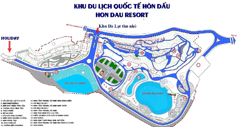Bản đồ Hòn Dấu Resort.