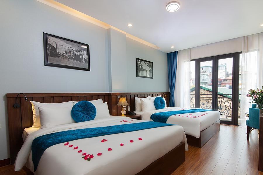 Một phòng nghỉ có view đẹp tại Hanvet Đồ Sơn