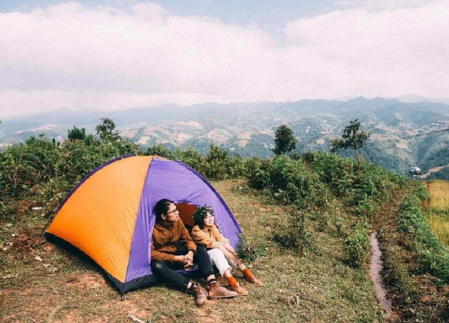 Dân phượt chính hiệu thường cắm trại qua đêm tại Mù Cang Chải