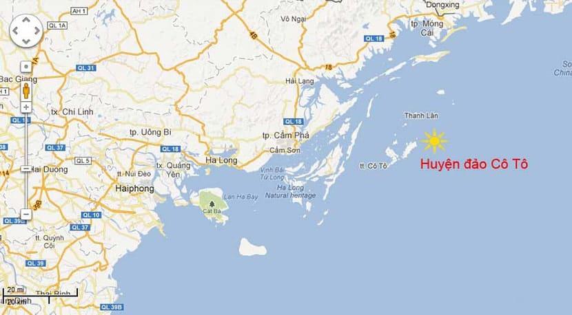 Vị trí của đảo Cô Tô giúp du khách di chuyển nhanh chóng