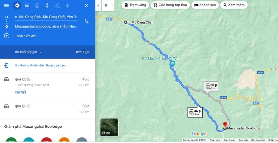 Đường đi đến Mu Cang Chai Ecolodge
