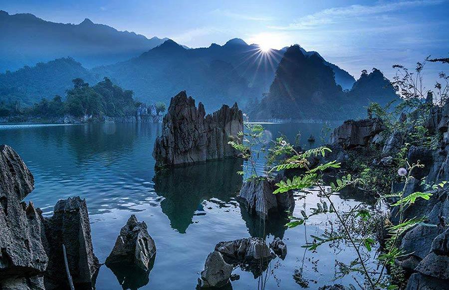 Hồ sinh thái tại Na Hang vào mùa nước lớn