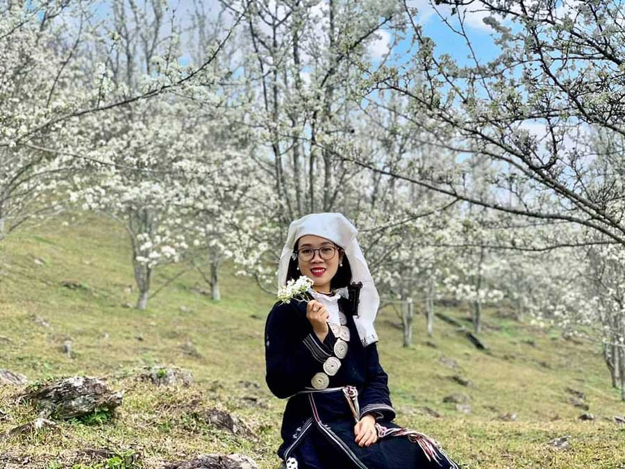 Hoa mận nở trắng trời báo hiệu mùa Xuân tại Na Hang