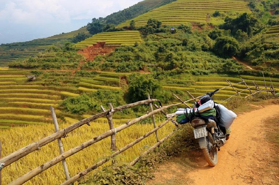 Tại Mù Cang Chải có nhiều điểm cho thuê xe máy