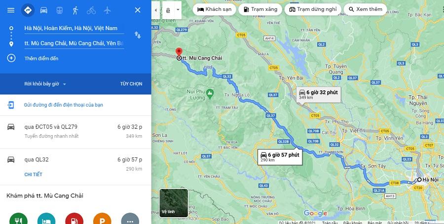 Tuyến đường thứ nhất từ Hà Nội đi Hà Giang