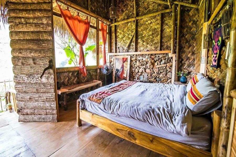 Phòng nghỉ tại Pu Luong Tree House