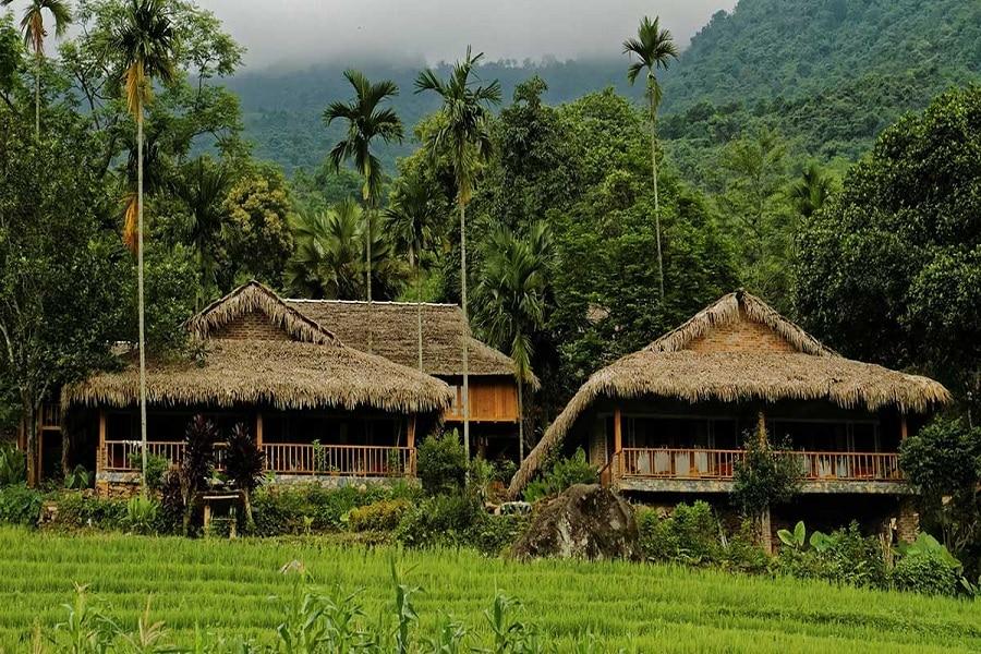 Những ngôi nhà sàn truyền thống tại Pù Luông