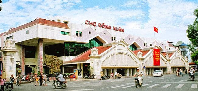 Chợ Đồng Xuân - nơi giao lưu buôn bán lớn nhất Hà Nội