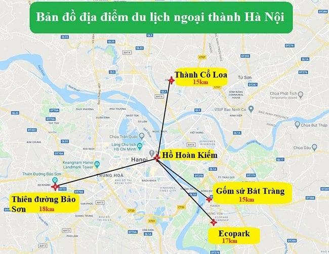 Các điểm du lịch ngoại thành Hà Nội độc đáo