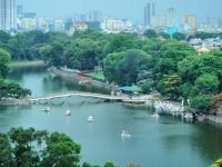 Toàn cảnh khuôn viên Công viên Thủ Lệ Hà Nội